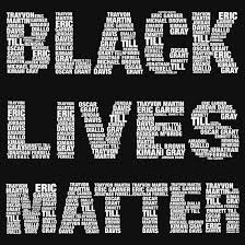 image of words for black lives matter